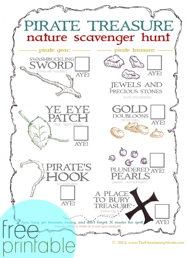 treasure map printable from TheFlourishingAbode