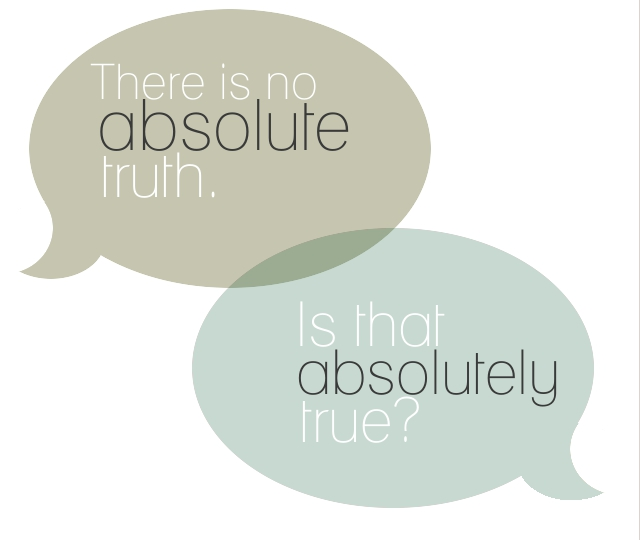 absolute relative truth 3 easy steps to show that absolute truth exists it is used as an opposite to relative truth we all know relative truth is not absolutely true.