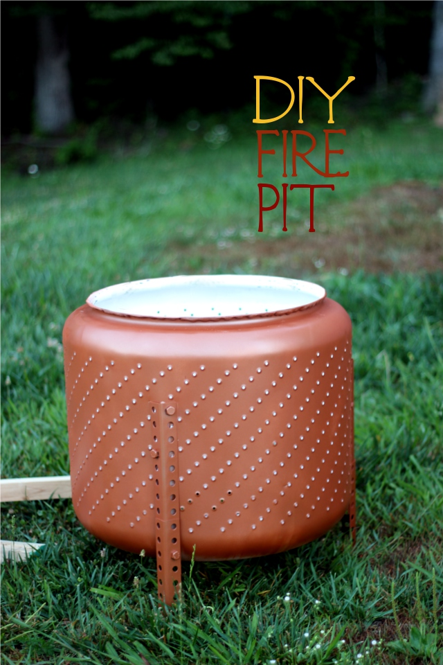 diy fire pit tutorial upcycled from a washing machine basin