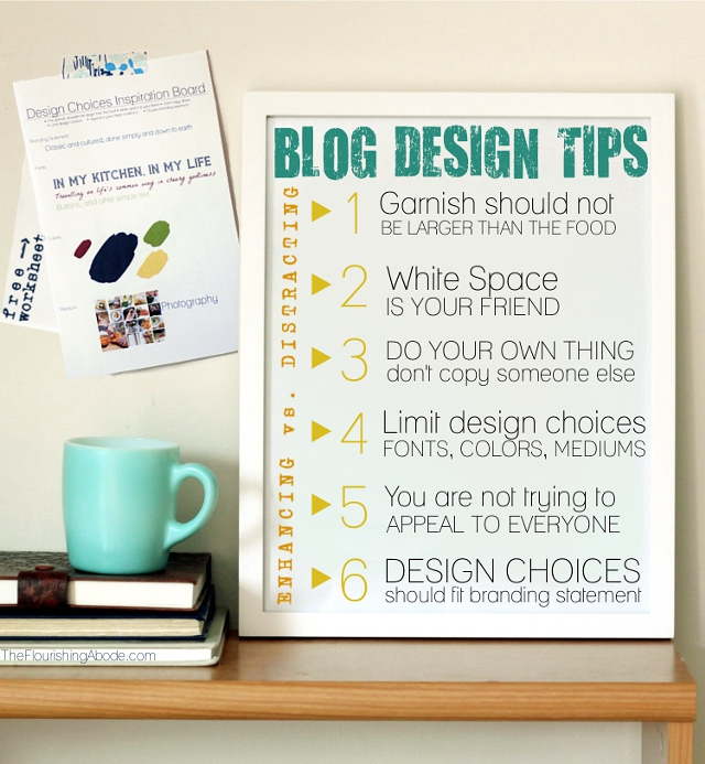 The flourishing abode - DIY blog redesign: Design Tips