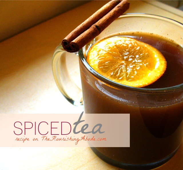 Spiced Tea recipe on TheFlourishingAbode